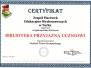 Certyfikat biblioteka przyjazna uczniowi